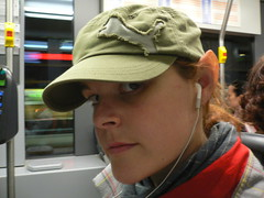 Tram heading to middle earth (happeningfish) Tags: self helsinki ipod geek makeup tram ears elf latex johanna hobbit
