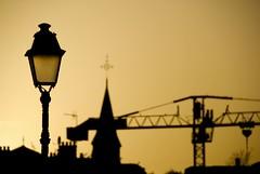 (Jordy B) Tags: orange france church église grue lampadaire marne passerelle leperreux bestofr