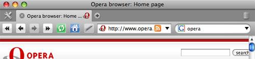 Captura de pantalla de Opera
