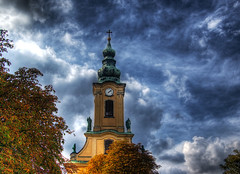 Clock Tower (NatashaP) Tags: autumn tower fall clock church clouds nikon hungary searchthebest budapest explore bigmomma interestingness7 d40 challengeyouwinner abigfave platinumphoto anawesomeshot impressedbeauty aplusphoto infinestyle theunforgettablepictures overtheexcellence theperfectphotographer pfogold flickrclassique