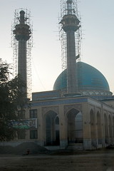 New Mosque at Kabul Islamic School (Madrasah) (jrozwado) Tags: afghanistan construction asia university madrasah minaret mosque kabul islamic