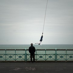 Unimpressed (Alex Bamford) Tags: sussex jump brighton explore bungee seafront railings indifference nlp unimpressed kemptown kingscliff explored interestingness107 i500 alexbamford thebigbambooly wwwalexbamfordcom