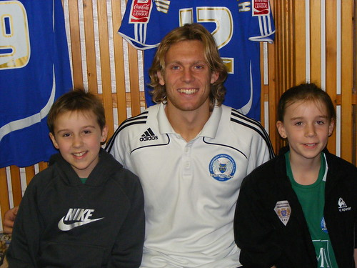 Hannah and Lucy with Craig Mackail-Smith