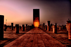 Tour Hassan II (oOcekaOo [Catchin' up]) Tags: africa street city sunset urban night canon eos twilight tour northafrica sigma morocco maroc maghreb hassan hdr rabat afrique hassanii blueribbonwinner 18200mmf3563dc 400d tourhassanii photoartbloggroup reflectyourworld dc18200mmf3563 tourhassan2
