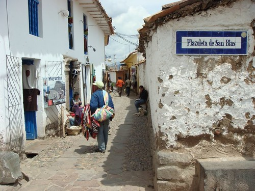 San Blas quarter. Cusco, Peru.
