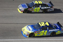 Nascar #24 Jeff Gordon and #48 Jimmie Johnson Atlanta Motor Speedway (RMac_Photography) Tags: atlanta cars race ga d50 georgia nikon automobile 21 atl racing nascar 24 airforce automobiles 48 rmac fallrace