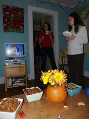 haggerty girls+devo. (stephiblu) Tags: november autumn party guests fun nj montclair 2008 autumnball autumnball2008 tichenortichenors