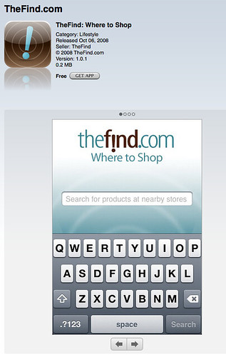 TheFind on the iPhone