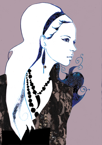 Lauren Bishop fashion-illustration-topshop-gothic-punk
