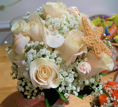 Bridal Bouquet Shells and Roses