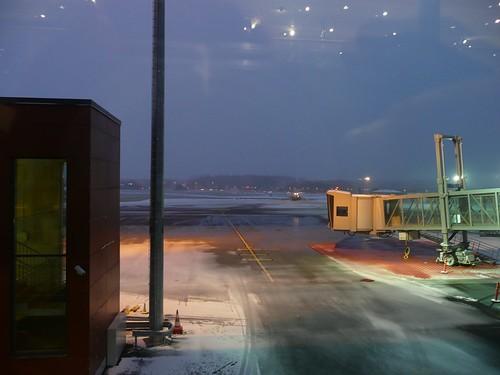 Aeroporto di Tallinn... con neve