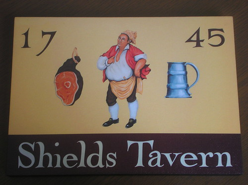 Shields Tavern sign