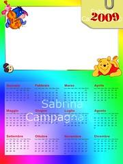 Winnie the Pooh Photo Calendar Template 2009