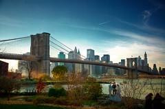 day 74 - Brooklyn Bridge (Randy Wick) Tags: nyc newyorkcity wedding ny newyork brooklyn couple manhattan marriage brooklynbridge hdr highdynamicrange empirefultonferrystatepark wvgallery