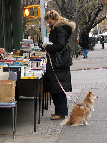 Book sale, Bleeker Street