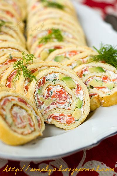 Salmon & Avocado Roulade