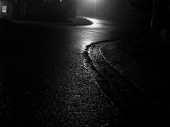 black white street night (dmixo6) Tags: blackandwhite white abstract black wet night dark moving energy