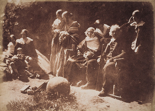 1844 D O Hill photo of The Rev Thomas Chalmers and his Family at Merchiston Castle School