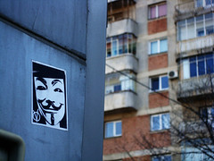 Out there (Mad Mike 3000) Tags: life new city people streetart art sign photo fight stencil sticker kill industrial view you propaganda lies nwo watch obey urbanart romania vforvendetta brainwash information bucharest ilustration bucuresti illuminati fightclub listen cityview tylerdurden notowar prostie minciuni
