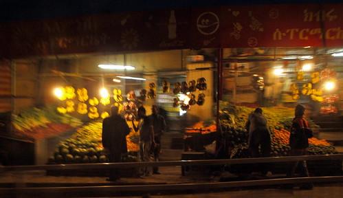 Frutería en Bole. Addis Abeba. Etiopía