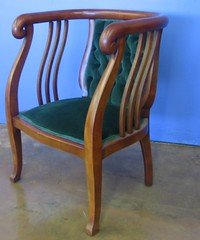SOLD: Art Deco chair, paired with settee (TheLivingRoominKenmore) Tags: vintage maple oak chair chairs furniture originalart paintings velvet sofa tables artdeco antiques recycle secondhand kenmore 98028 interiordesign staging mahogany reseller reuse thelivingroom consignment refurbish repurpose shabbychic kenmorewa