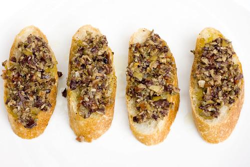 Olive Caper Relish on baguette 4