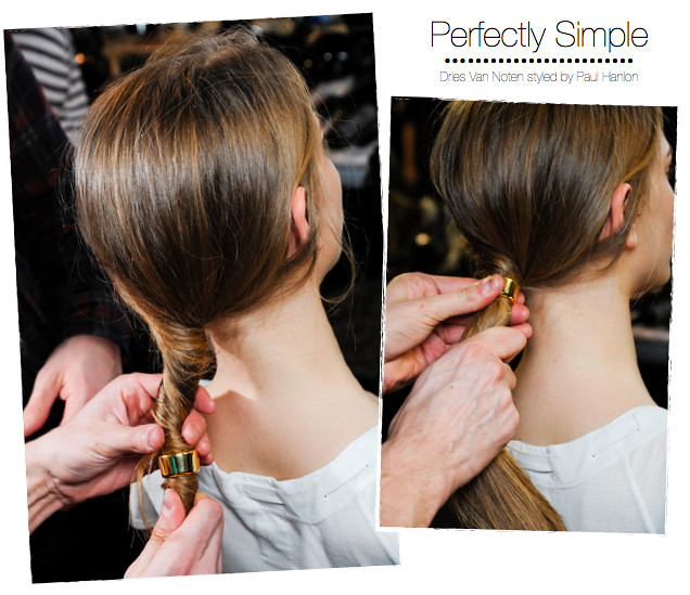 Dries Van Noten-ponytail