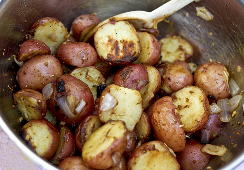 backyard red potato salad
