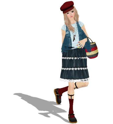 *.:[K]:.* wrinkles skirt (blue)