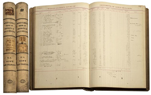 Mint Gold Bullion ledger books