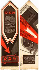 RAM (Cristian Mantovani) Tags: old radio vintage advertising flyer milano di ram pubblicit italiani parti ogni volantino accessori gener
