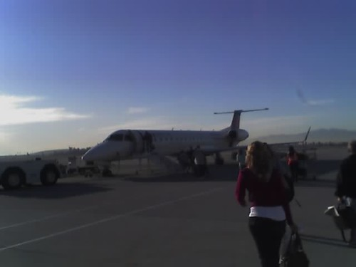 Small little plane that I took from ontario to austin.