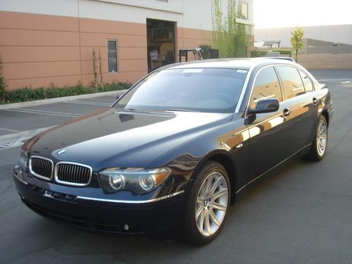 Black 2003 BMW 745Li