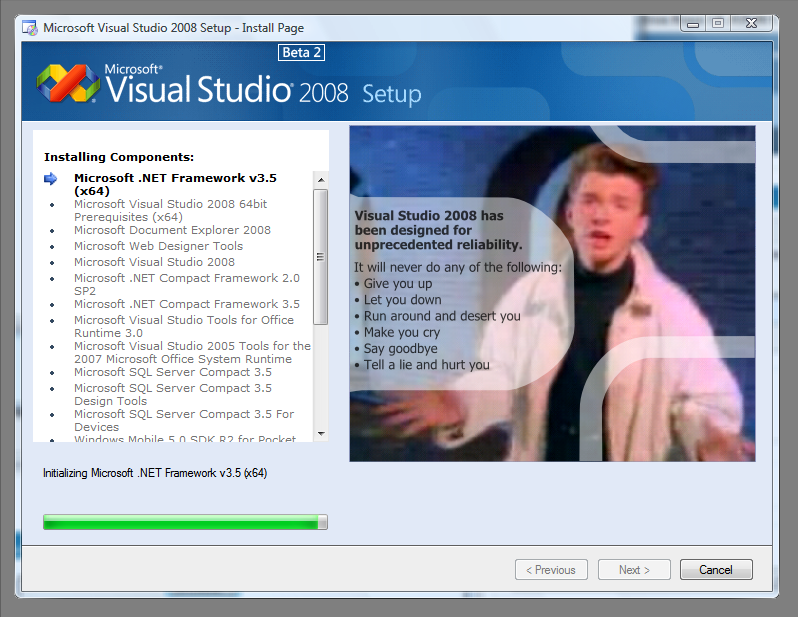 visual studio 2008 free  for windows 8.1