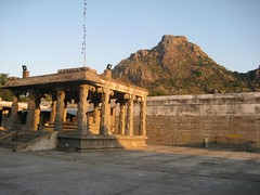 Mandapam in the backdrop of the Hill