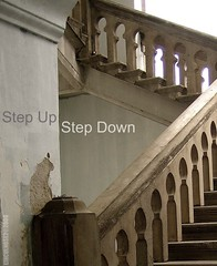Step Up | Step Down (LINCOLNOSE2) Tags: concrete steps ktm railwaystation malaysia kualalumpur railing staircases escaleras goldstaraward lincolnose22008 thenewacademygroup canonixux40