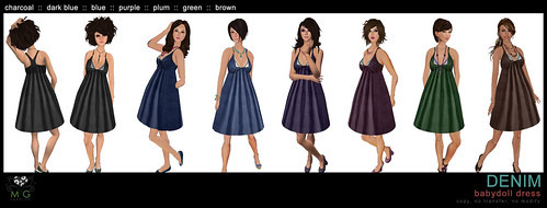 [MG fashion] DENIM babydoll dresses