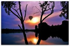 Aerial Track (*Wajanek) Tags: sunset lake reflection water silhouette bravo searchthebest poland yesterday soe orton balon themoulinrouge firstquality abigfave diamondclassphotographer flickrdiamond megashot