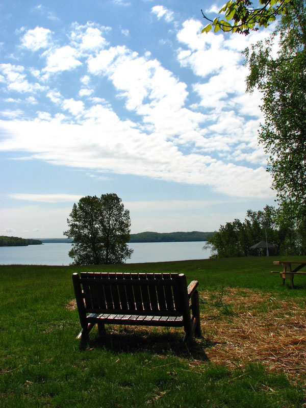 Chair overlooking Lake Walloon