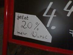 Jetzt 20% mehr Wurst