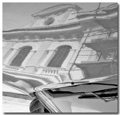 Porto Maurizio magg15gipref  B&W The Prefecture Palace reflected on the car (esseil) Tags: road street windows bw cars reflections reflect cielo palazzo riflessi ontheroad reflejos scky