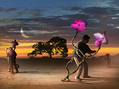Amores Sinceros (marcarambr) Tags: blue moon azul photomanipulation photoshop marcel surrealism flor digitalart rosa lua orquidea surrealist salvadordali 1001nights artedigital soe flawer surrealismo golddragon aplusphoto diamondclassphotographer flickrdiamond goldstaraward marcarambr blinkagain