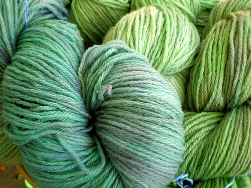 Handpainted Wool Yarn