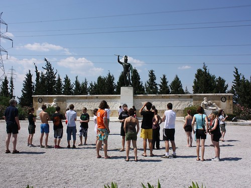 King Leonidas of Sparta and the tourists