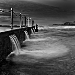 Moody Mona Vale (Xenedis) Tags: sydney monavale monavalebeach rockpool rocks water ocean dawn blackandwhite seascape newsouthwales nsw australia bw