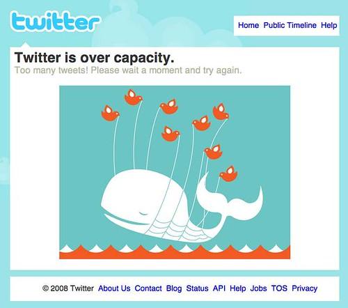 Знаменитый error screen, который так часто выидели пользователи Twitter во время крупных мероприятий, вызывавших пики трафика.