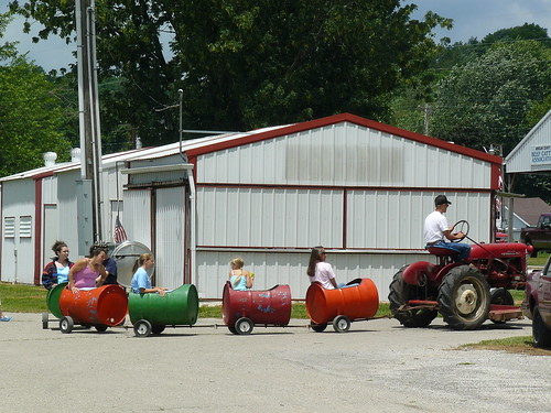 IF your kids ride around in a 55-gallon drum....
