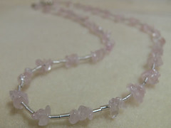 necklace with rosequartz