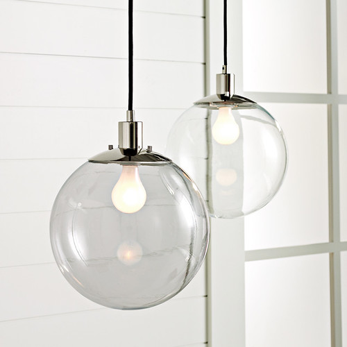 um i thought i had chosen just the right light fixture for the bathroom but itu0027s possible that i was wrong this glass globe pendant from west elm is just