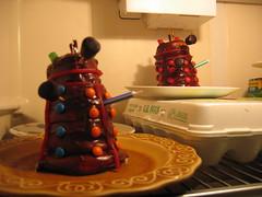 Daleks in the Fridge (AlbinoGrimby) Tags: cupcakes doctorwho genevieve daleks brinker wuffles keasbirthday glenndaleks